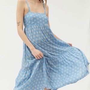 Urban Outfitters Haverford Frock Blue Midi Dress